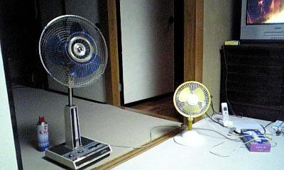 夏はやっぱり扇風機