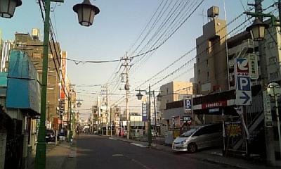 電線のある街